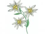 Edelweisskette mit 3 Blüten