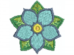 Blume blau 01