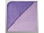 Kapuzenfrottee 80cm x 80cm bestickt flieder-violet