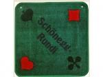 Jassteppich, PIQUET - F, grün bestickt