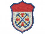Flagge mit Anker und Ruder