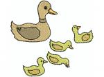 Ente mit Jungen