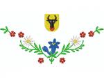 Hirthemd einfach bestickt mit 1 Wappen