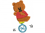 Bär auf Einrad