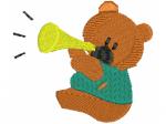 Bär mit Trompete