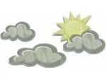 Sonne mit 3 Wolken