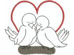 2 turtelnde Tauben