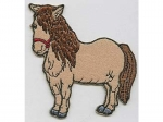 Pony stehend beige