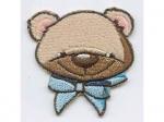 Teddybär Kopf mit masche blau
