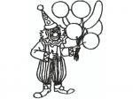 Clown schwarz
