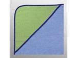 Kapuzenfrottee 80cm x 80cm bestickt lind-königsblau