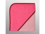 Kapuzenfrottee 80cm x 80cm bestickt rosa-pink