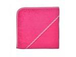 Kapuzenfrottee 80cm x 80cm bestickt uni pink