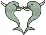 2 Delfine bilden ein Herz