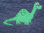 Latz mit Arm Dino