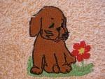 Schlupflätzli Hund mit Blume
