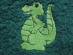 Latz zum Binden Drachen grün