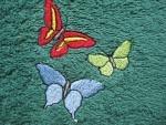 Latz zum Binden Schmetterlinge grün