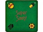 Jassteppich, JASS - D/CH, grün bestickt