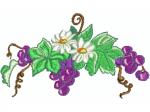 Trauben mit Blumen