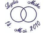 2 Ringe mit Namen und Datum