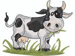 Kuh im Gras
