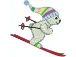 Bär mit Ski