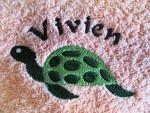 Lätzli mit Klett Schildkröte